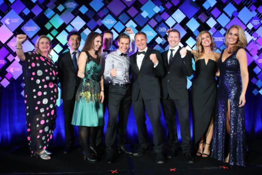 Pictured – Aerospace technology specialist, HeliMods,  named 2018 Telstra Queensland Business of the Year.