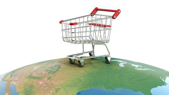 Shopping trolley on Earth