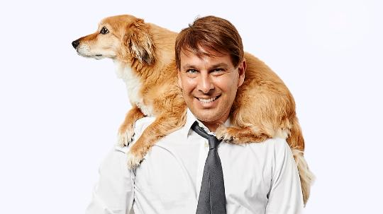 Peter Alexander with dog