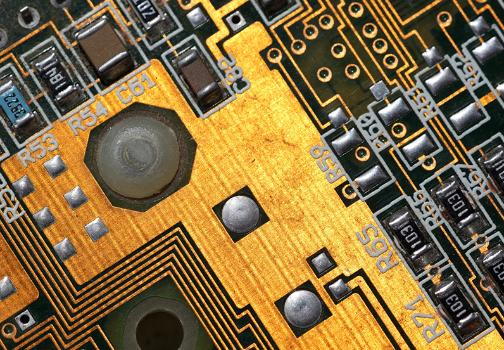 A vintage circuit board conducting signals like modern technology conducts business – by connecting with what's ahead
